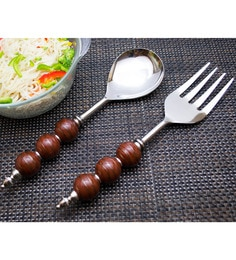 Homesake India Brown Stainless Steel 2-piece Noodle Server Set