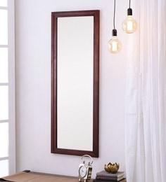 Honey Oak Sheesham Wood Rajputana Handcrafted Full Length Mirror