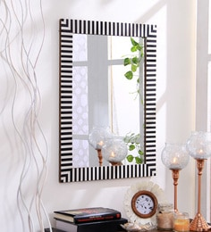 Hosley Black & White Resin & MDF Decorative Zebra Wall Mirror at pepperfry