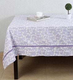 House This Precious Dandelion Purple Cotton Table Cover - 1649350