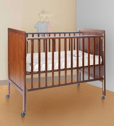 Howard Solid Wood Baby Cot In Teak Finish
