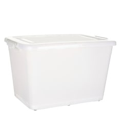 Howards Storage World Easi Store Plastic 110 L Storage Box With Wheels