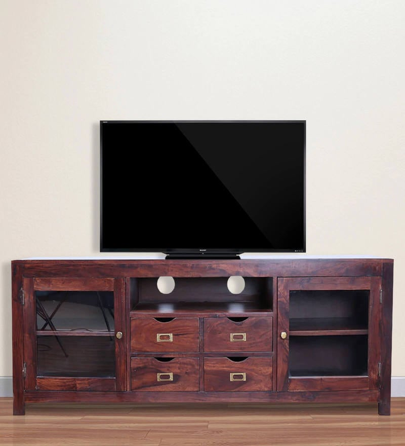 holly solidwood unit in brown colour by hometown
