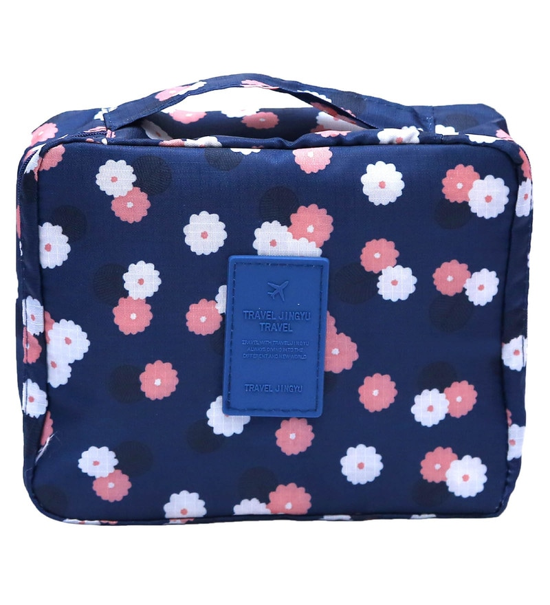 Home Creation Nylon Blue Makeup Organiser