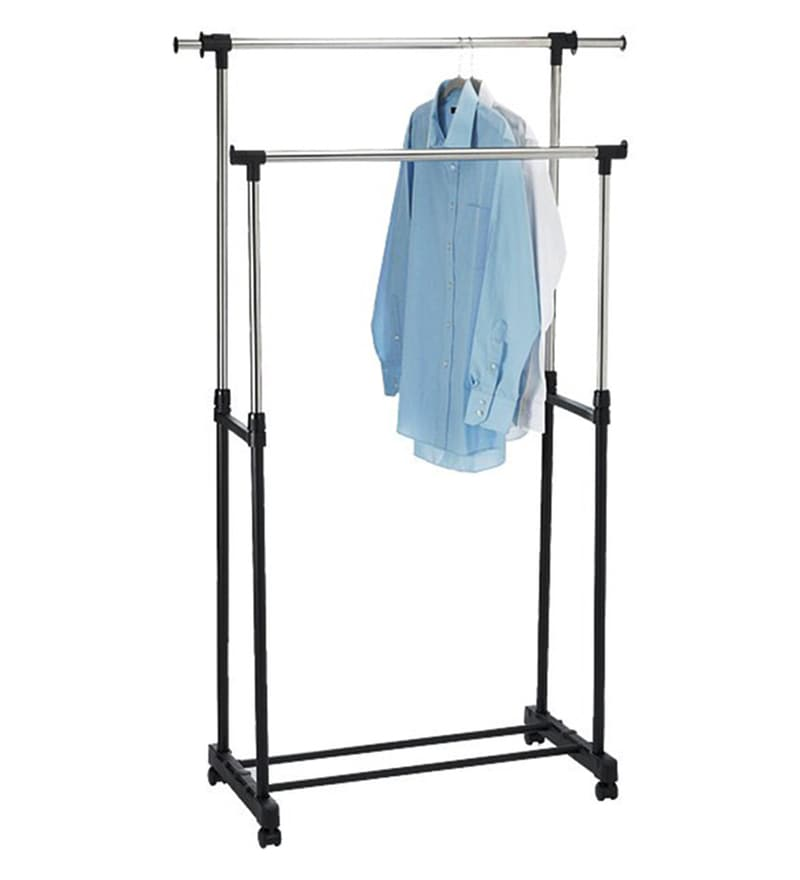 Home Creation Stainless Steel Silver Cloth Drying Stand