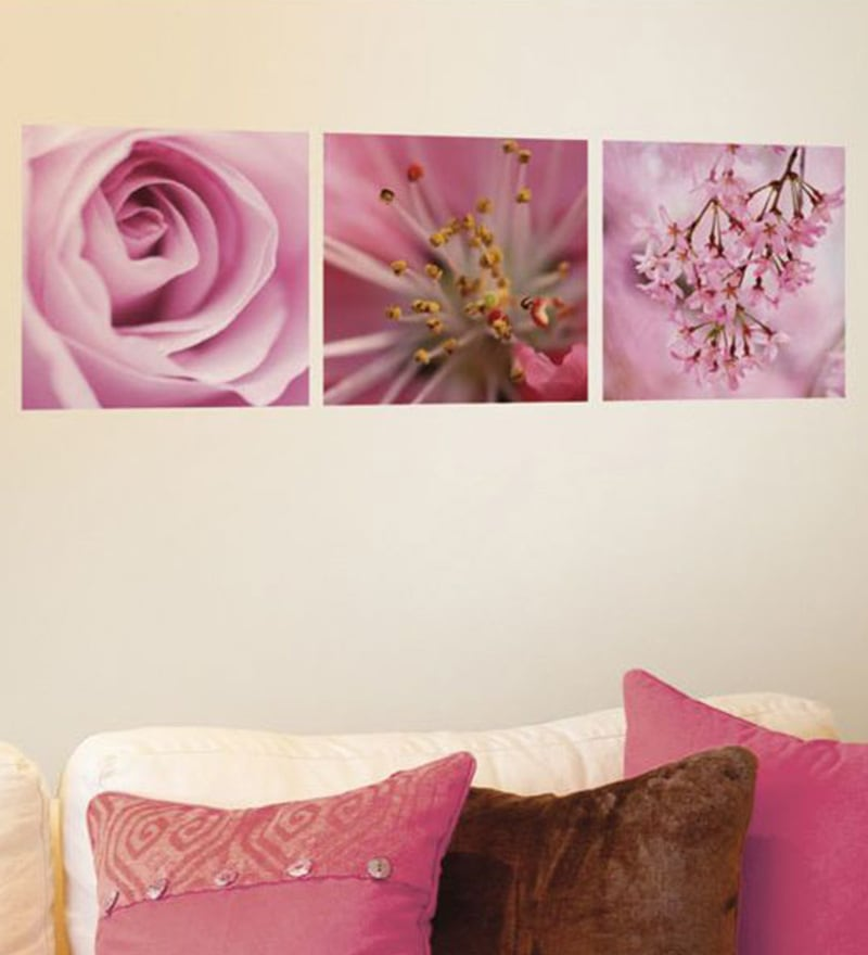 Vinyl Pink flowers Wall Sticker by Home Decor Line