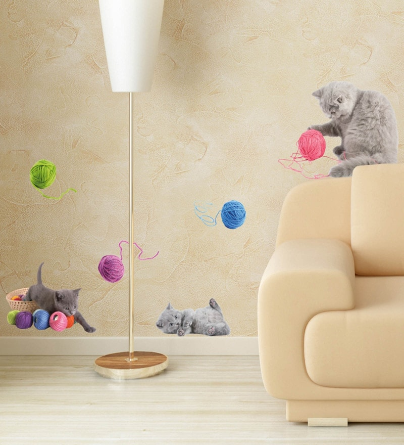 Vinyl Playful Cats Wall Sticker by Home Decor Line