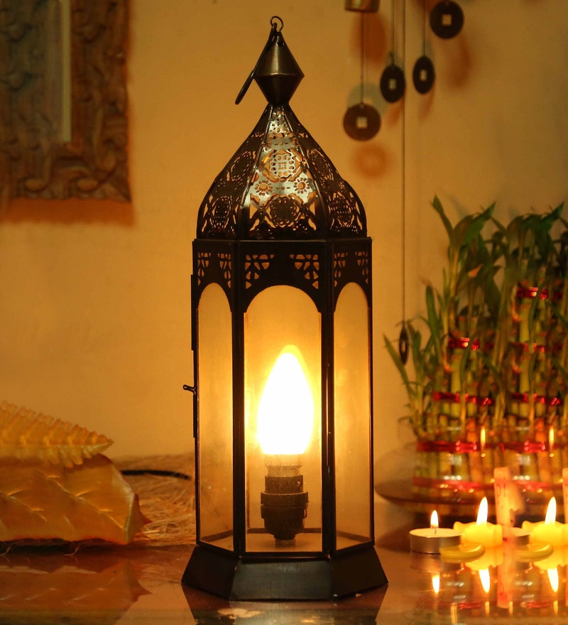 Black Iron Moroccon Lantern by Homesake