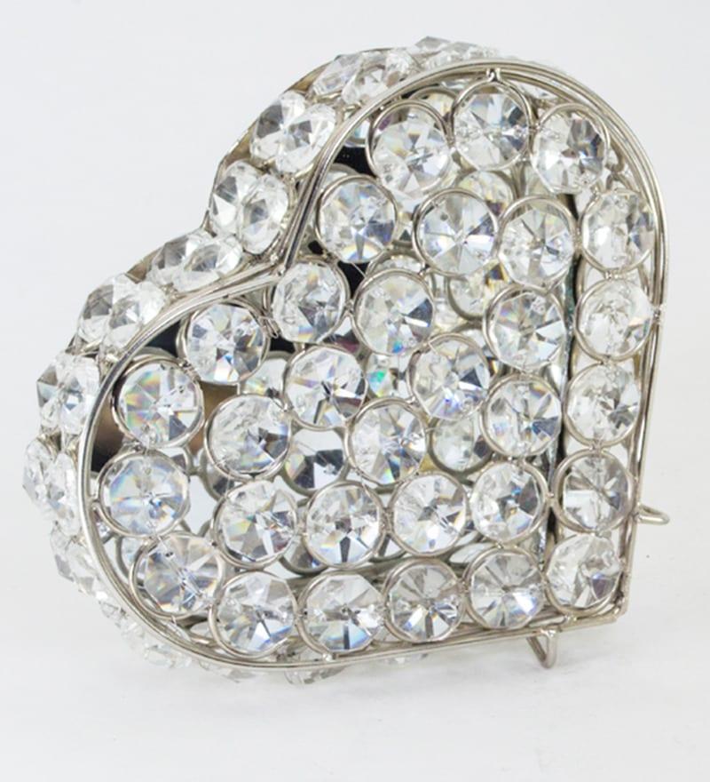 Buy Homesake Crystal Silver Jewellery Box Online - Jewellery ...