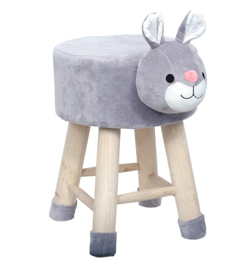 16d2ffa2 Buy Honey Bunny Kids Stool in Grey Online - Kids Stools - Kids ...