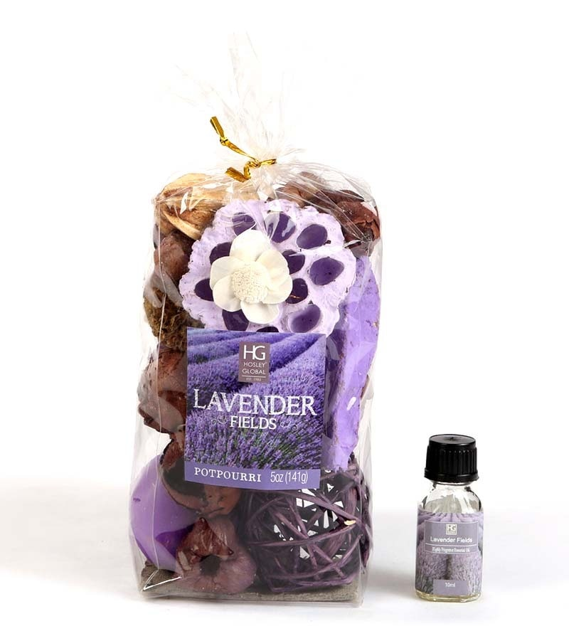 Lavender Dried Leaves Potpourri Bag by Hosley