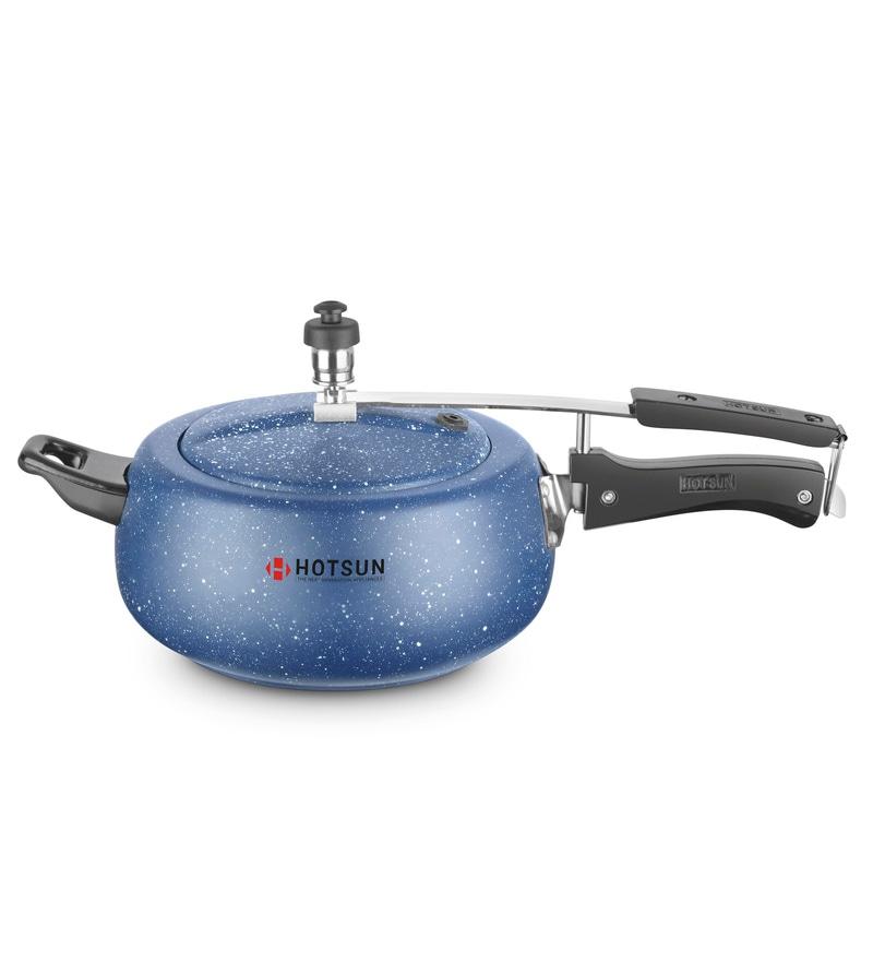 Hotsun Daisy Blue Granite 5.5 Litres Aluminium Pressure Cooker