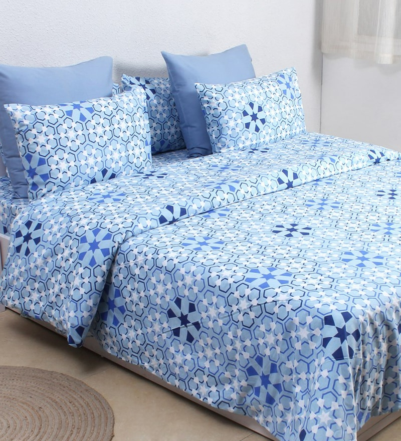 Blue 100% Cotton Double Size Dohar by House This