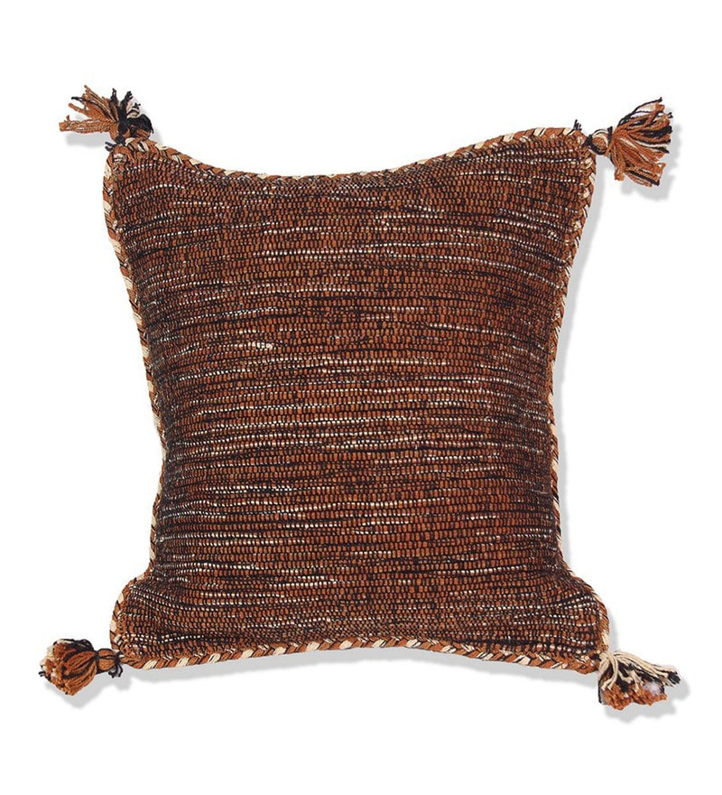 House This Multicolour Cotton 16 x 16 Inch The Yarn Melange Cushion Cover