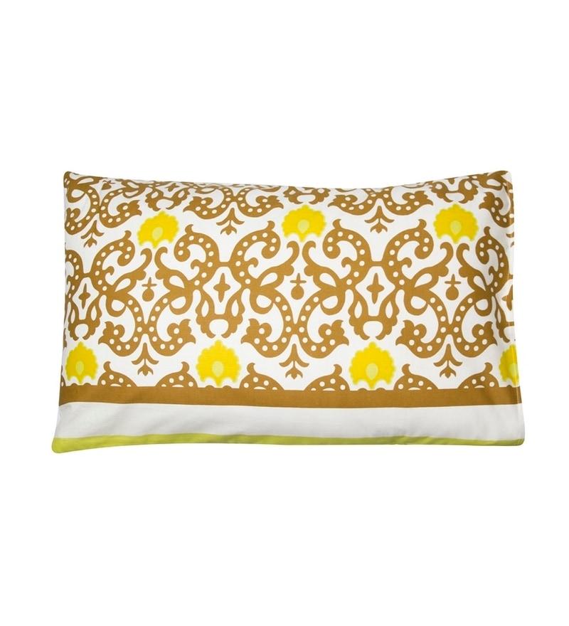 House This Multicolour Cotton 27 X 18 Pillow Cover 1 Pc