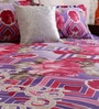 Lilac & Pink Cotton 94 x 86 Inch Double Bed Sheet (with Pillow Covers) by Home Creation