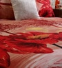 Home Creation Pink Polyester Trees 94 x 86 Inch Double Bed Sheet (with Pillow Covers)