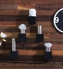 Black Engineered Wood Cubes Shelf - Set of 5 by Home Sparkle