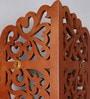 Home Sparkle Brown Engineered Wood Carved Corner Shelf