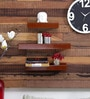 Simon Contemporary Wall Shelves Set of 3 in Brown by CasaCraft