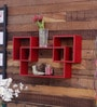 Home Sparkle Red Engineered Wood Mozaic Shelf