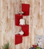 Red Mango Wood Wall Hanging Corner Rack by Home Sparkle