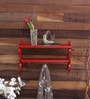 Red Mild Steel Layer Wall Shelf by Home Sparkle