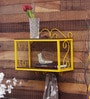 Yellow Iron 2-tier Wall Shelf by Home Sparkle