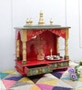 Multicolour MDF & Mango Wood Medium Home Temple by Homecrafts