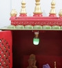 Multicolour MDF & Mango Wood Semi Large Home Temple with Door by Homecrafts