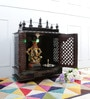 Walnut MDF & Mango Wood Large Home Temple with Door by Homecrafts
