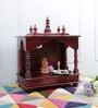 Walnut MDF & Mango Wood Medium Home Temple by Homecrafts