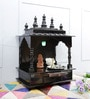 Homecrafts Walnut MDF & Mango Wood Semi Large Home Temple