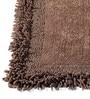 Coffee Brown Furry Style 20 X 32 Inch Cotton Bath Mat by HomeFurry