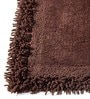 Homefurry Greyish Brown Furry Style 20 X 32 Inch Cotton Bath Mat
