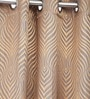 Homestop Mocha Brown Polyester 84 x 84 Inch Abstract Door Curtain - Set of 2