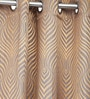 Homestop Mocha Brown Polyester 60 x 48 Inch Abstract Window Curtain - Set of 2