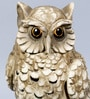 Beige Resin Owl Cone Incense Holder Showpiece by Hosley