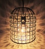 House of Kalaa Cage Metal Pendant Lamp with Glass Crystals