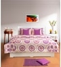 Multicolour Geometric Patterns Cotton Queen Size Bed Sheets - Set of 3 by House This
