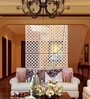 White Acrylic Small Diamonds Room Divider by Planet Decor