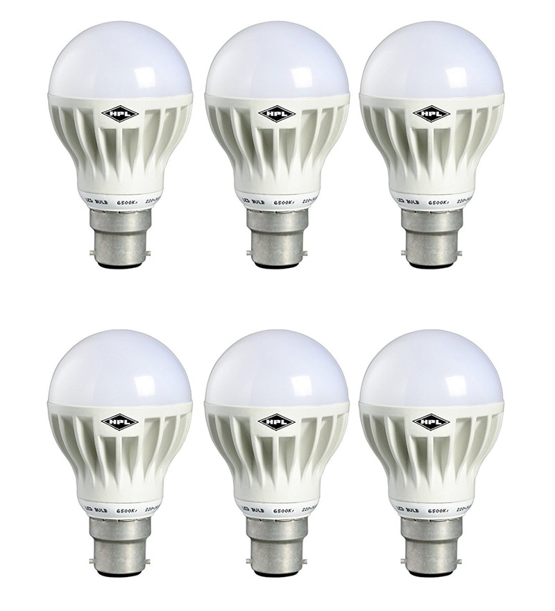 HPL White 5-Watt LED Bulbs - Set of 6
