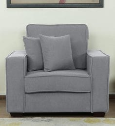 Hugo One Seater Sofa In Ash Grey Colour ...