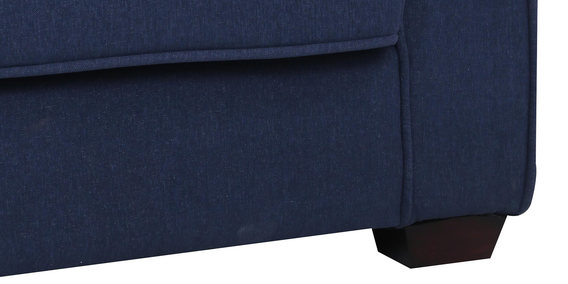 Hugo Two Seater Sofa in Navy Blue Colour by CasaCraft