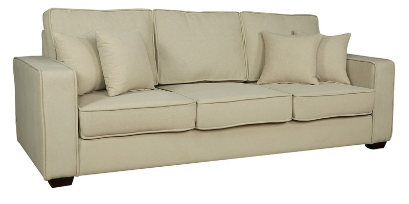 Buy Hugo Three Seater Sofa In Beige Colour By CasaCraft Online