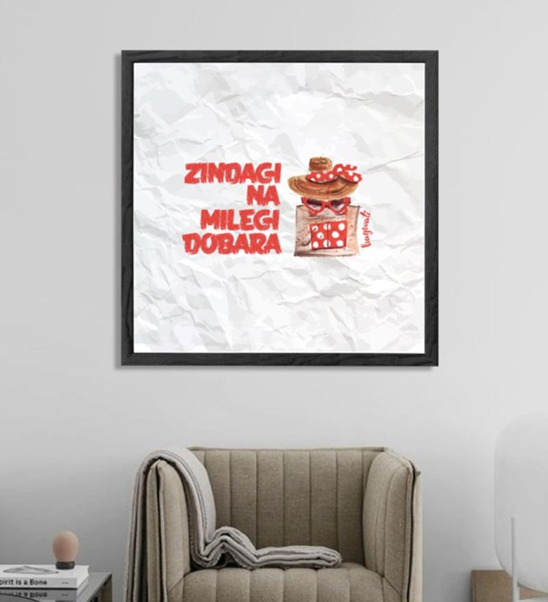 Sun Board 26 x 26 Inch Super Cute Bagwati - Zindagi Na Milegi Dobara Framed Poster by Hulkut