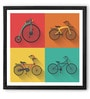 Hulkut Wooden 26 x 26 Inch Jolly Ride Framed Digital Art Print