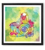 Hulkut Wooden 26 x 26 Inch Modern Camera Framed Digital Art Print