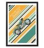 Hulkut Wooden 26 x 38 Inch Motorcycle Diaries Framed Digital Art Print
