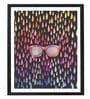 Hulkut Wooden 26 x 32 Inch Walking In The Rain Framed Digital Art Print
